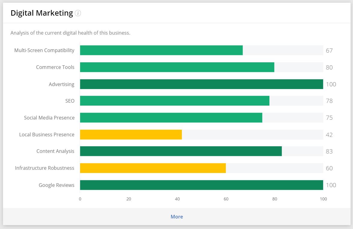 Analyze the prospect's online maturity